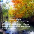 Serenity Prayer With Beautiful Autumn Scene by kkphoto1