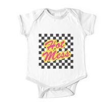 One Hot Mess Retro 80's One Piece - Short Sleeve