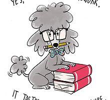 Professor Poodle by lexidooodle