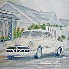 Pontiac at the Beach Motel by Jeanne Allgood
