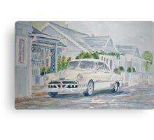 Pontiac at the Beach Motel Canvas Print