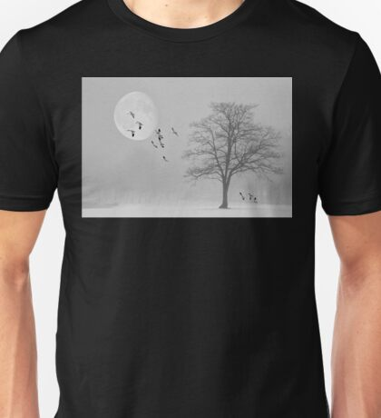 Snow Geese In The Snow Unisex T-Shirt