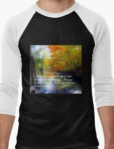 Serenity Prayer With Beautiful Autumn Scene Men's Baseball ¾ T-Shirt
