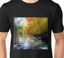 Serenity Prayer With Beautiful Autumn Scene Unisex T-Shirt