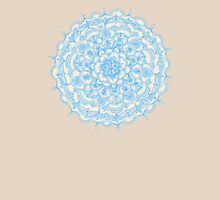 Pale Blue Pencil Pattern - hand drawn lace mandala Womens Fitted T-Shirt