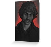 Will Graham, greyscale Greeting Card