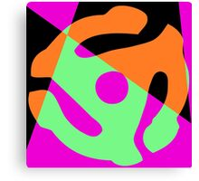 Abstract 45 Record Holder Canvas Print