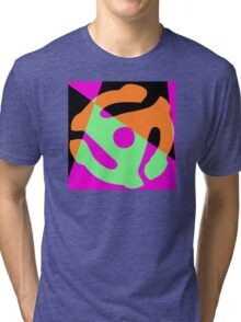 Abstract 45 Record Holder Tri-blend T-Shirt