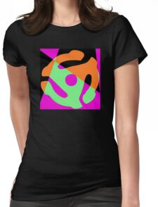 Abstract 45 Record Holder Womens Fitted T-Shirt