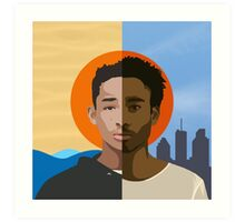 Childish Gambino we r becoming god Art Print