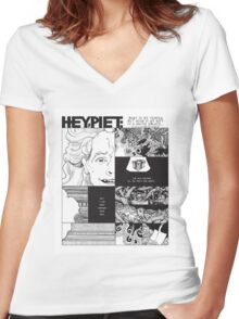 Hey Piet - Body Is My Temple Women's Fitted V-Neck T-Shirt