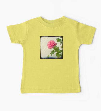 A single pink rose Baby Tee