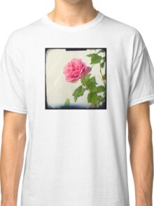 A single pink rose Classic T-Shirt