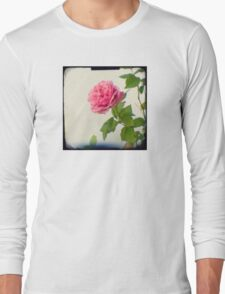 A single pink rose Long Sleeve T-Shirt