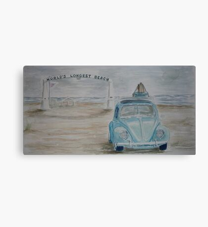 VW Vagabond on Long Beach Canvas Print