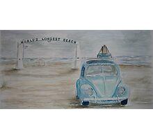 VW Vagabond on Long Beach Photographic Print