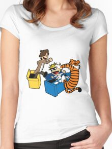 Doctor Who and Hobbes Women's Fitted Scoop T-Shirt