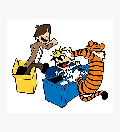 Doctor Who and Hobbes Photographic Print