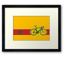 Bike Stripes Morocco Framed Print