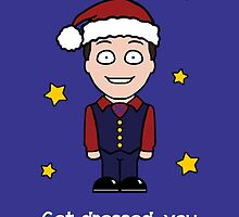 Cabin Pressure Christmas card: Arthur by redscharlach