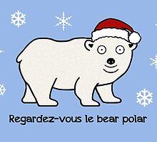 Cabin Pressure Christmas card: Polar Bear by redscharlach