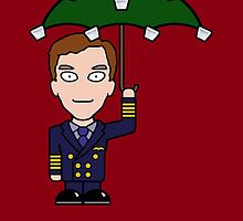 Cabin Pressure Christmas card: Martin by redscharlach