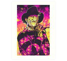 Neon Horror: Freddy  Art Print