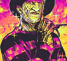 Neon Horror: Freddy  by retkikosmos
