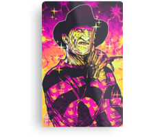 Neon Horror: Freddy  Metal Print