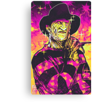 Neon Horror: Freddy  Canvas Print