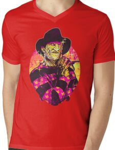 Neon Horror: Freddy  Mens V-Neck T-Shirt