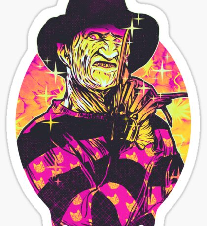 Neon Horror: Freddy  Sticker