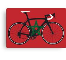 Bike Flag Morocco (Big - Highlight) Canvas Print