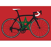 Bike Flag Morocco (Big - Highlight) Photographic Print