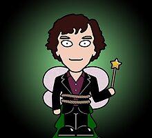 Sherlock Christmas card: Like a Fairy by redscharlach