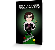 Sherlock Christmas card: Like a Fairy Greeting Card