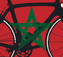 Bike Flag Morocco (Big - Highlight) Sticker