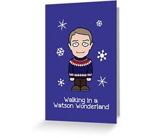 Sherlock Christmas card: Watson Wonderland Greeting Card