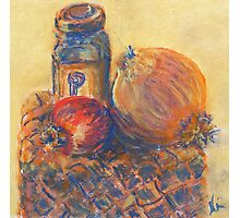 Pomegranate, Pepper, and Onion (pastel) Photographic Print