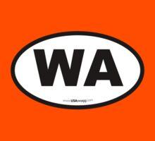 Washington State WA Euro Oval  Kids Clothes