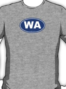 Washington State WA Euro Oval BLUE T-Shirt