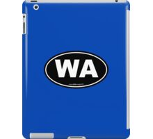 Washington State WA Euro Oval  iPad Case/Skin