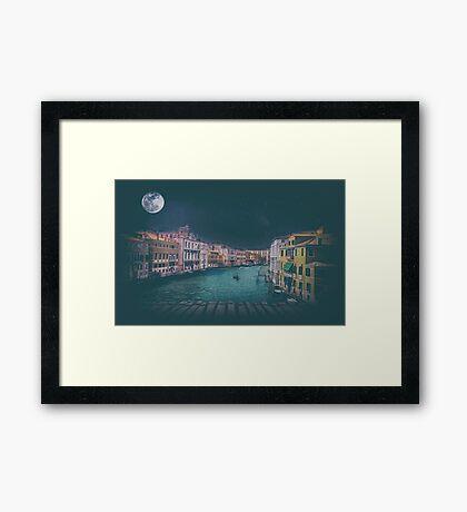 Fine art retro image Venice, Italy. Framed Print