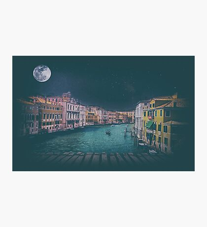 Fine art retro image Venice, Italy. Photographic Print