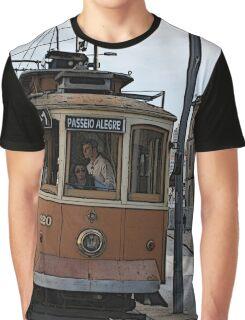 """Passeio Alegre"" Portuguese Tram Graphic T-Shirt"