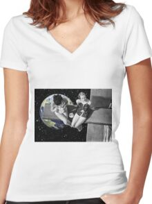 tea for two Women's Fitted V-Neck T-Shirt