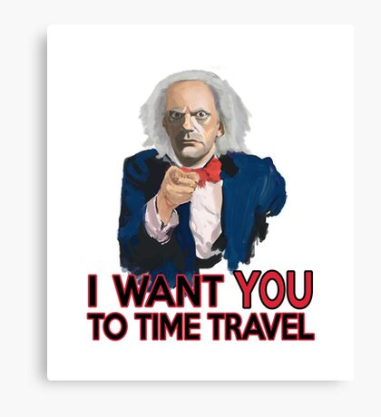 Doc Brown Wants You Canvas Print