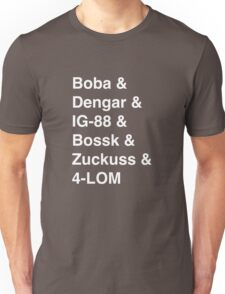 Bounty Hunter List Unisex T-Shirt