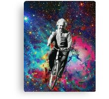 Albert Einstein fait du velo  Canvas Print