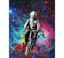 Albert Einstein fait du velo  Photographic Print